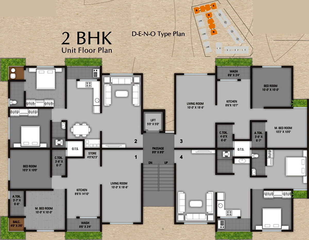 850 sq ft 1 bhk 1t apartment for sale in sun realtors for Floor plans for realtors