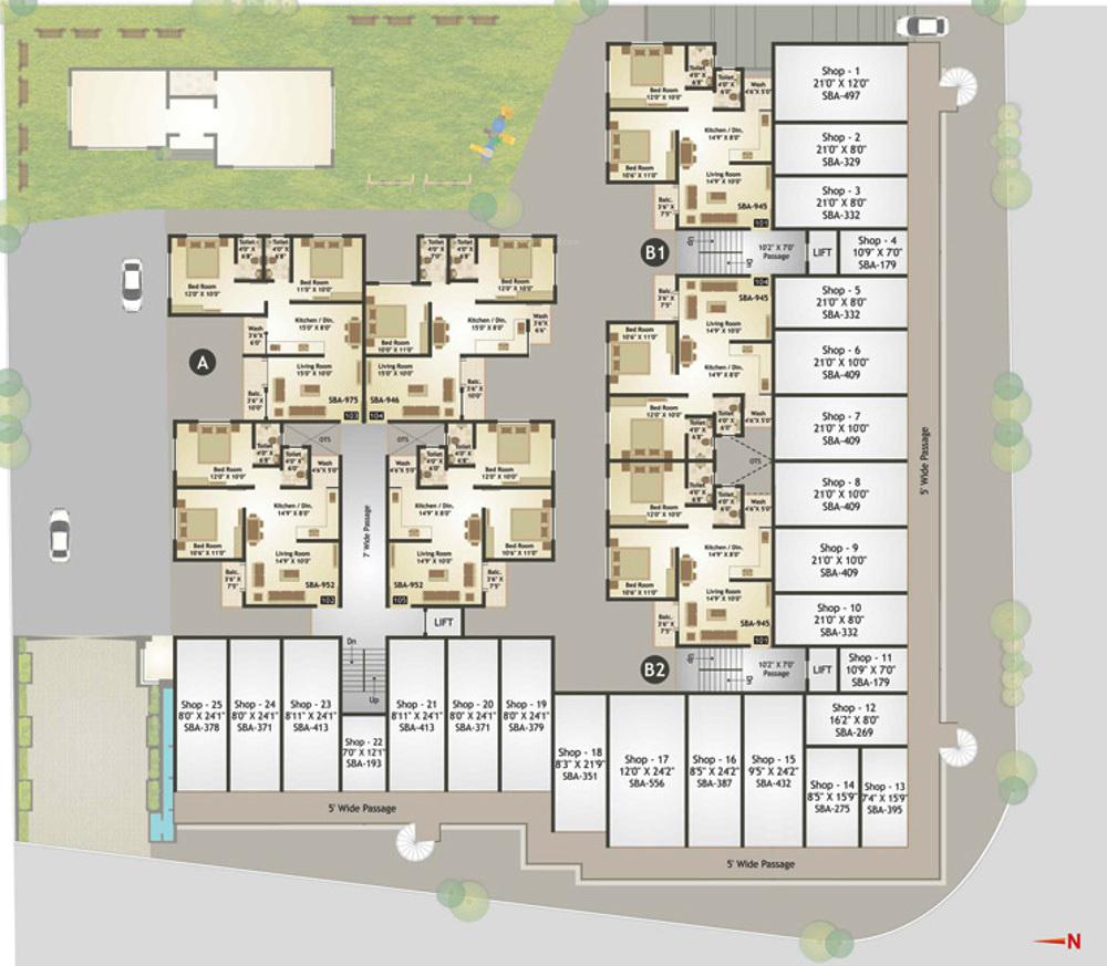 Macy S Herald Square Floor Plan: Sarva Sarva Square In Harni, Vadodara