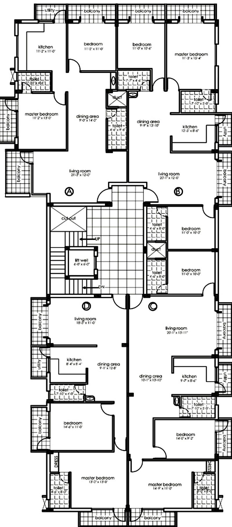 conseptz mercury mercury cluster plan for typical floor 762152?width\=520\&height\=400 paras homes floor plans gurus floor,Paras Homes Floor Plans