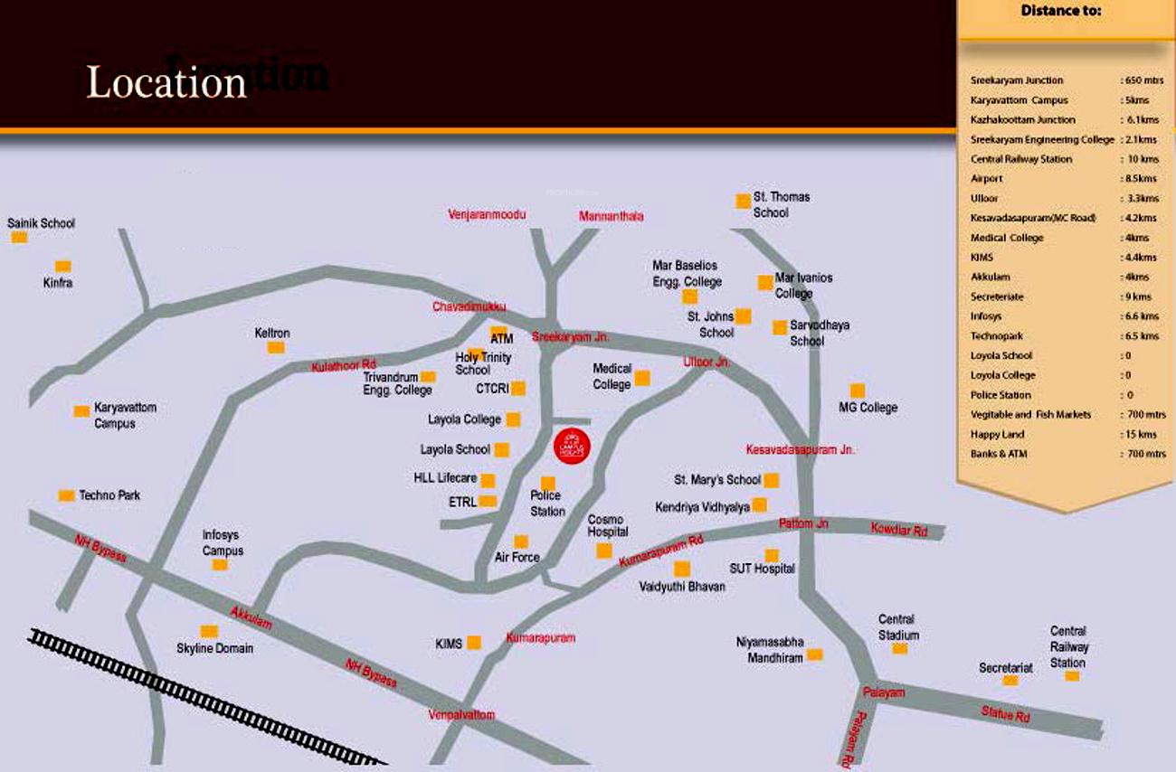 Skyline Campus Heights In Sreekariyam Trivandrum Price Location
