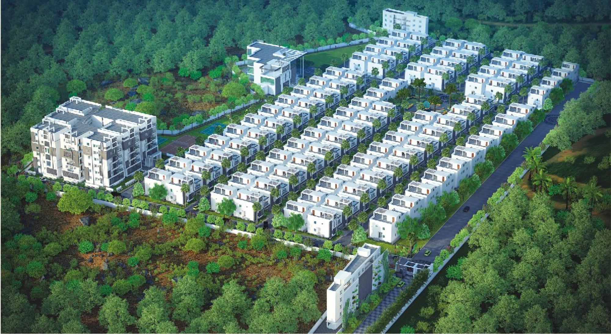 compare my place mypi green castle villas vs guru raghavendra