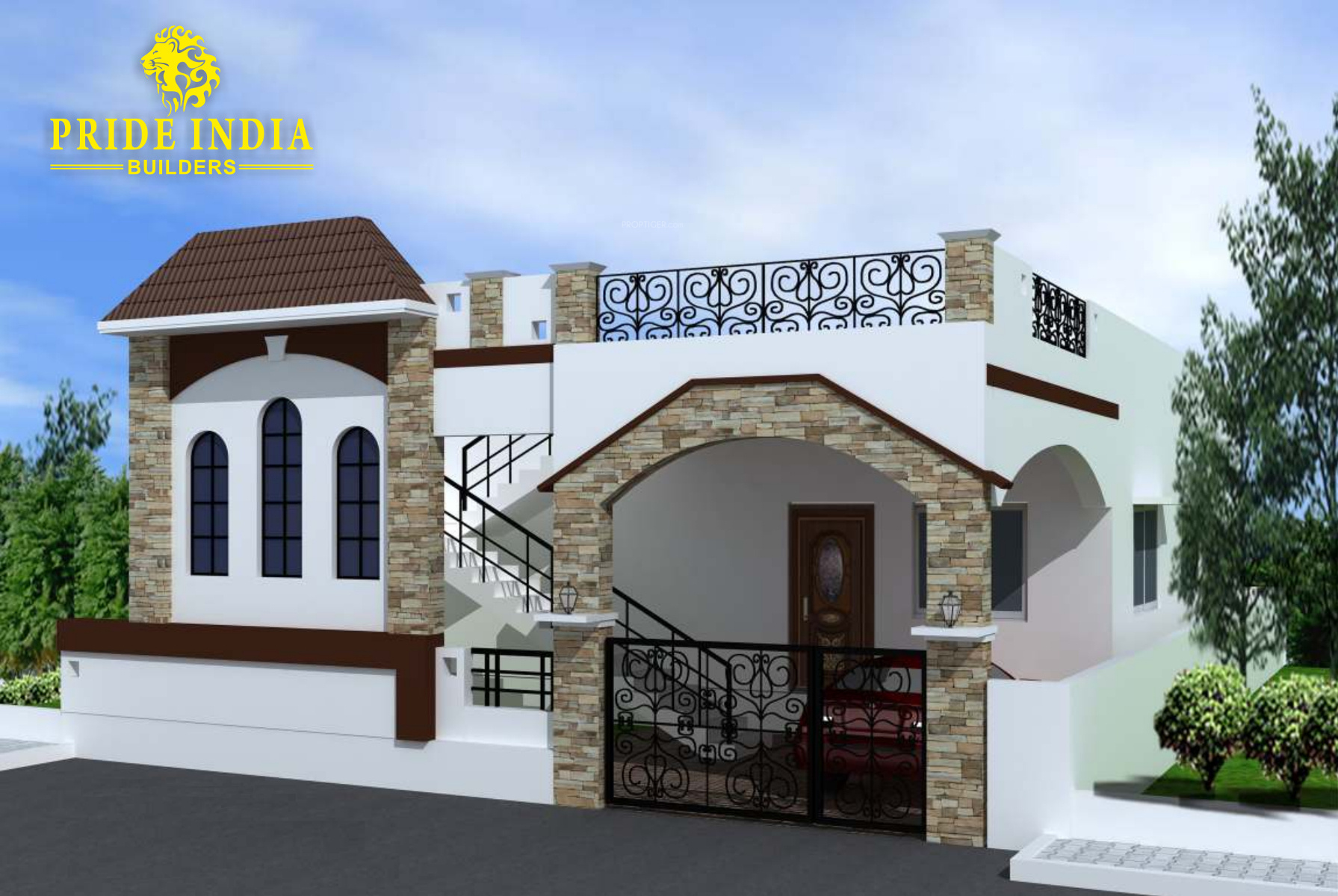 1050 sq ft 2 bhk 2t villa for sale in pride india for Extension villa