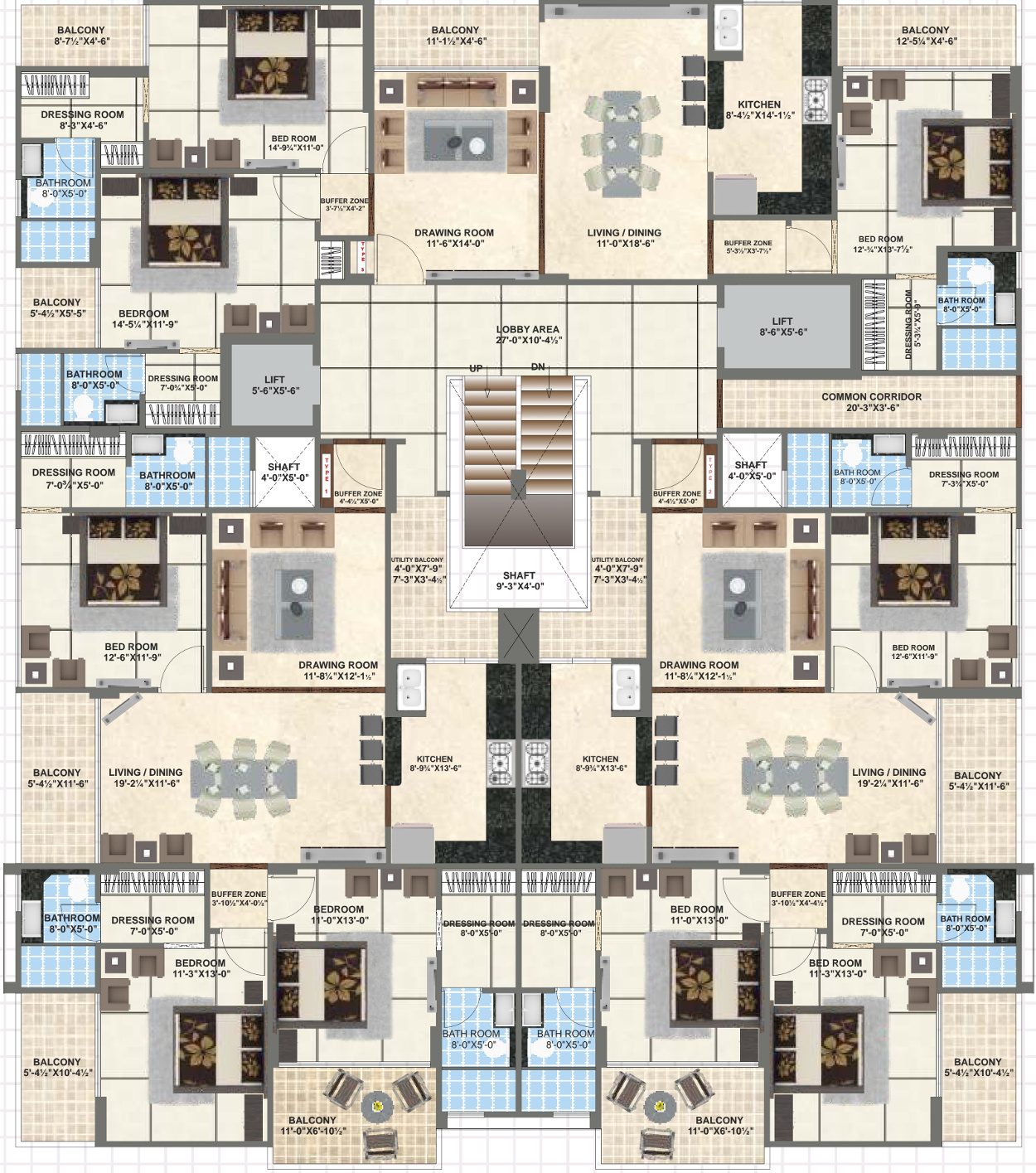 Kings Landing Apartments: 2050 Sq Ft 3 BHK 3T Apartment For Sale In DND Buildhome