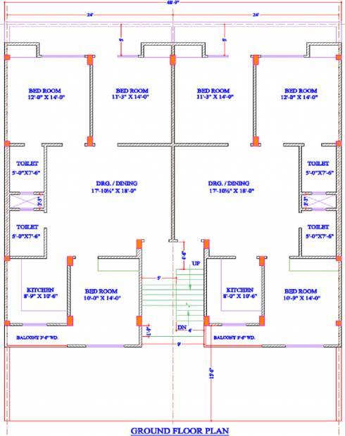 landmark-builder amber Amber Cluster Plan for Ground Floor