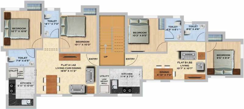 Images for Cluster Plan of MS Orange County Apartments