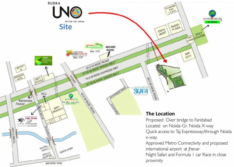 uno Images for Location Plan of Rudra Uno