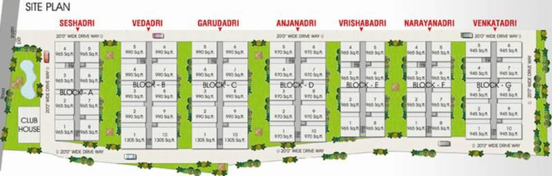 Images for Site Plan of Srinivasa Suvarna Srinivasam