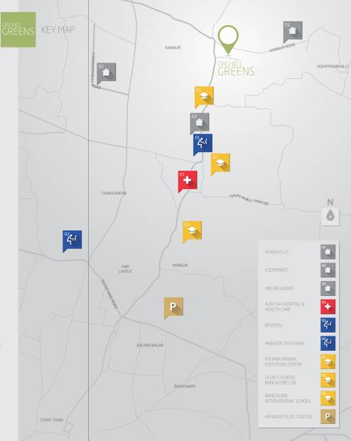 orchid-greens Images for Location Plan of Goyal Orchid Greens