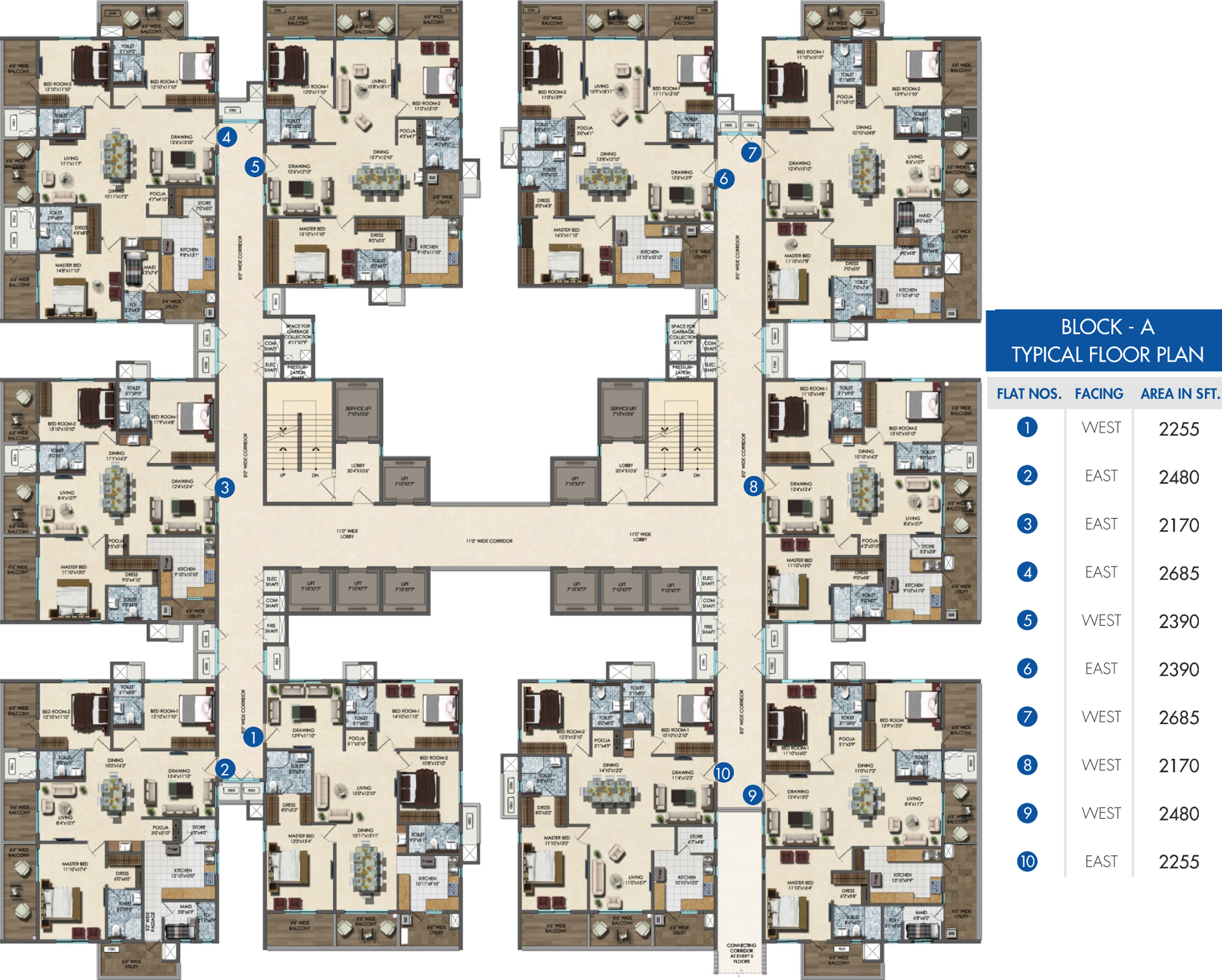 Lansum oxygen towers in maddilapalem visakhapatnam for Typical house floor plan