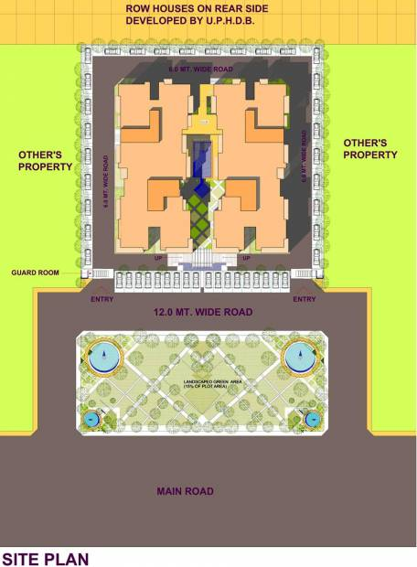 Images for Site Plan of Parth Construction Lucknow Blue Monarch