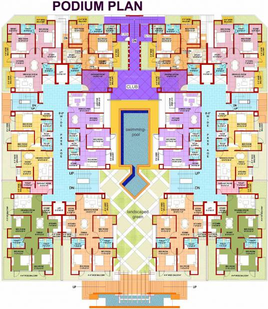 Images for Cluster Plan of Parth Blue Monarch