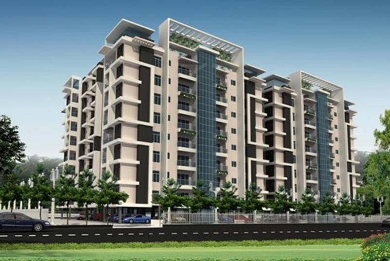 Images for Elevation of Parth Construction Lucknow Blue Monarch