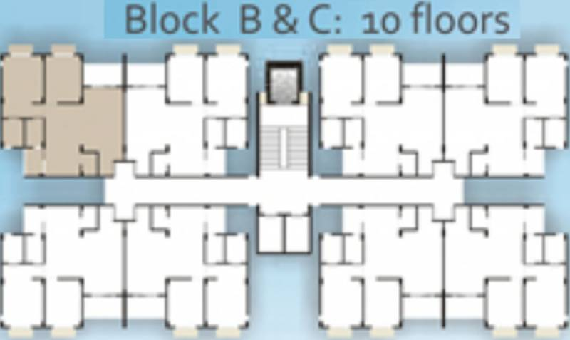 river-side-park Block B & C Cluster Plan from 1st to 10th Floor