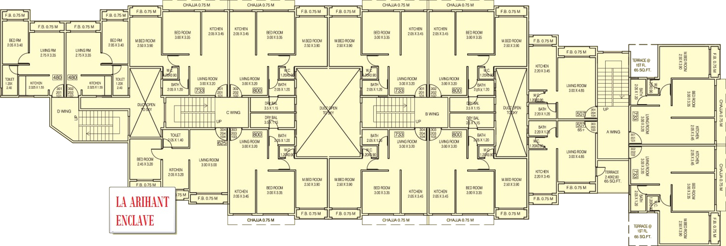 480 Sq Ft 1 Bhk 1t Apartment For Sale In La Homes Arihant