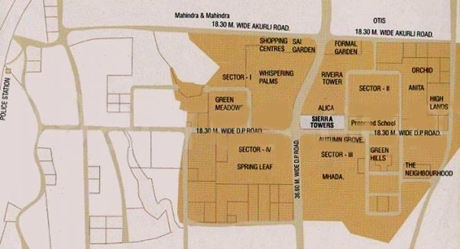 sierra-towers Location Plan