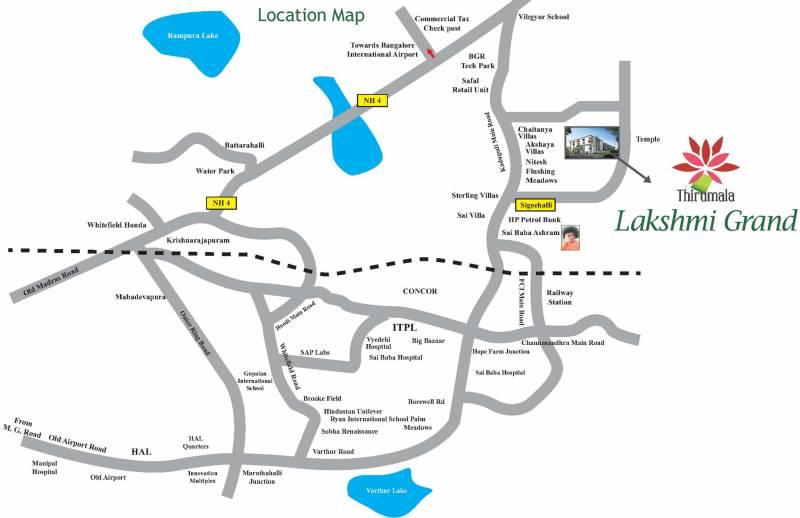 Images for Location Plan of Chowdeshwari Thirumala Lakshmi Grand