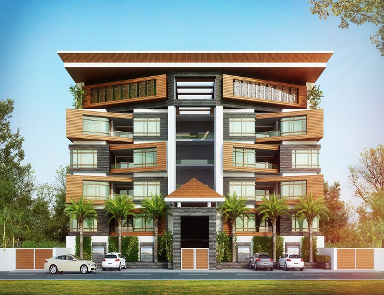 Residential building elevation photos residential building for Best elevations residential buildings