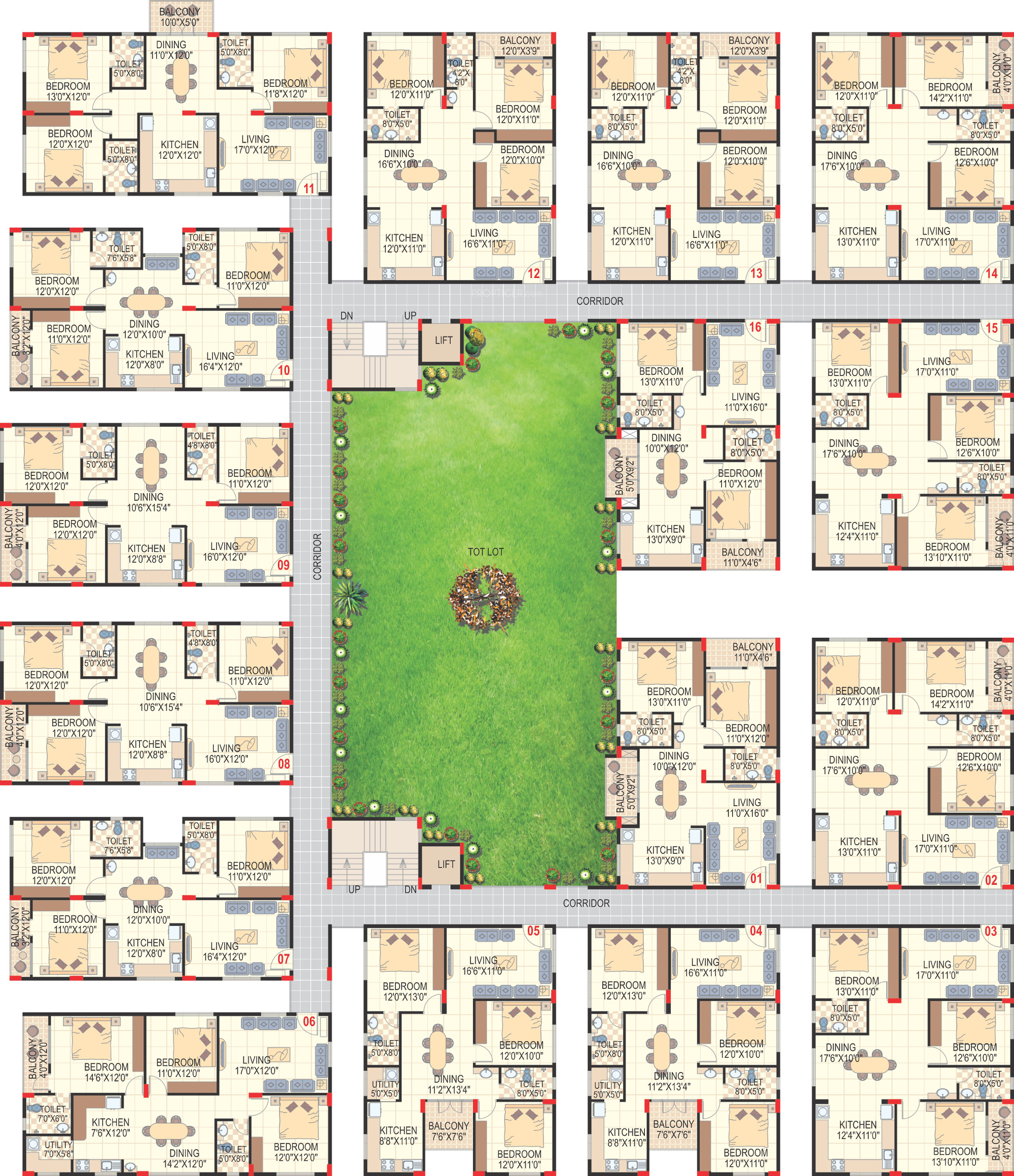 1615 sq ft 3 bhk 3t apartment for sale in sai charita for Apartment plans for sale