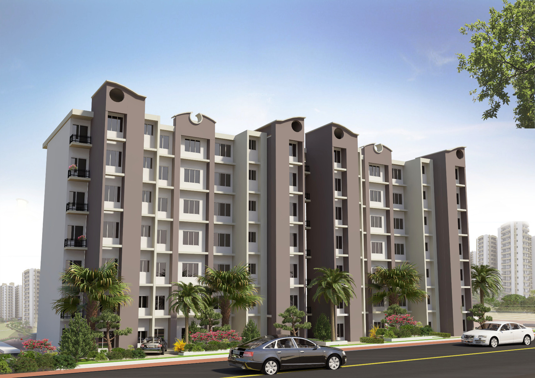 main elevation image of aftek group housing unit available at main elevation image of aftek group housing unit available at uattardhona lucknow proptiger com