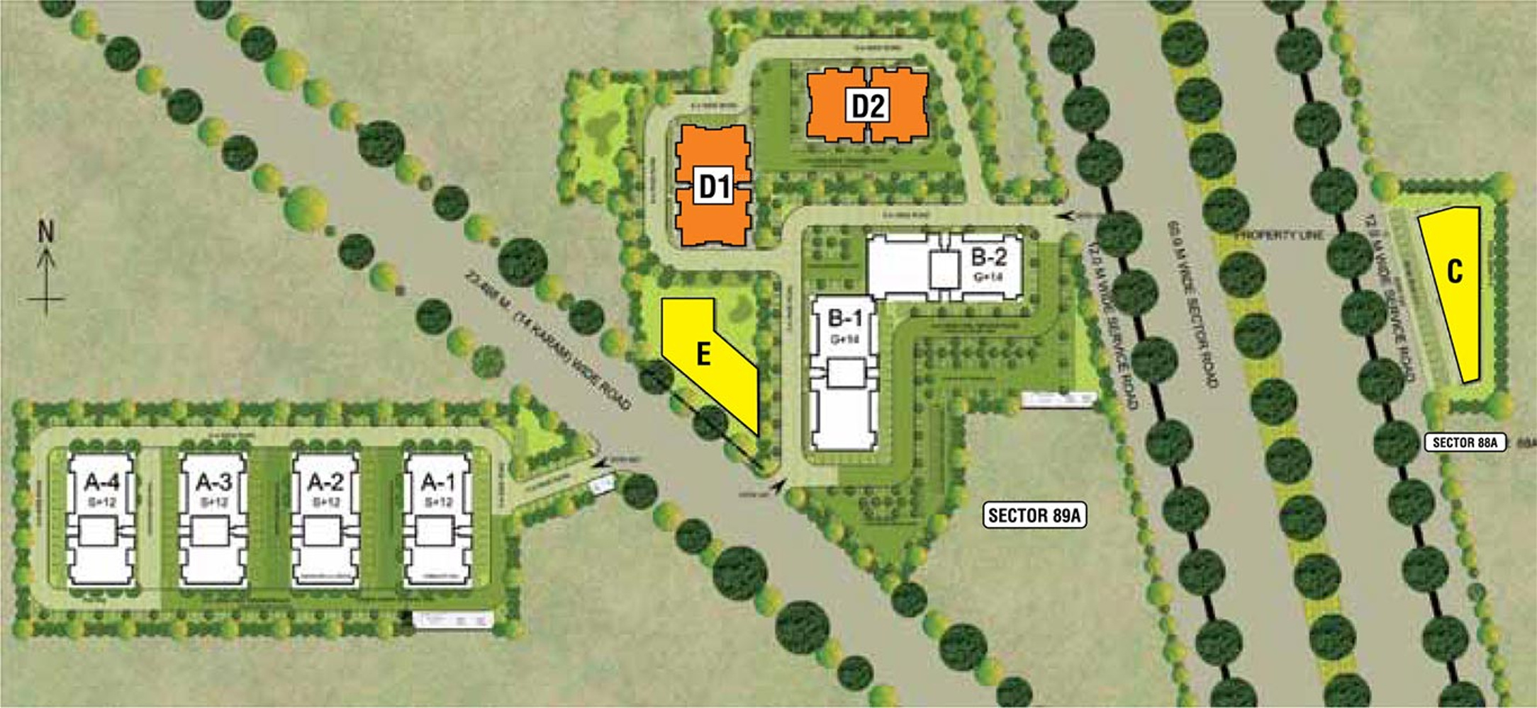 Adani Aangan In Sector 89a Gurgaon Price Location Map