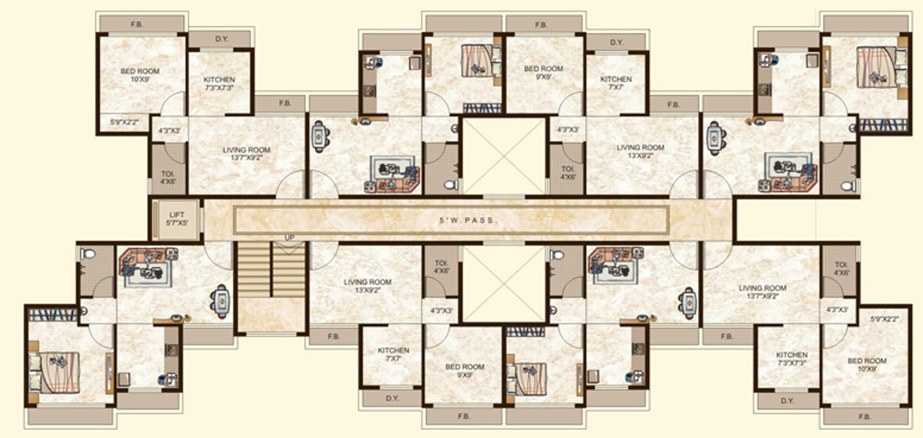 450 Sq Ft 1 Bhk 1t Apartment For Sale In Tulsi Estates