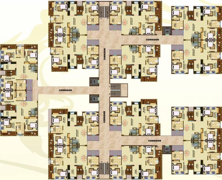 greens Images for Cluster Plan of Aftek Greens