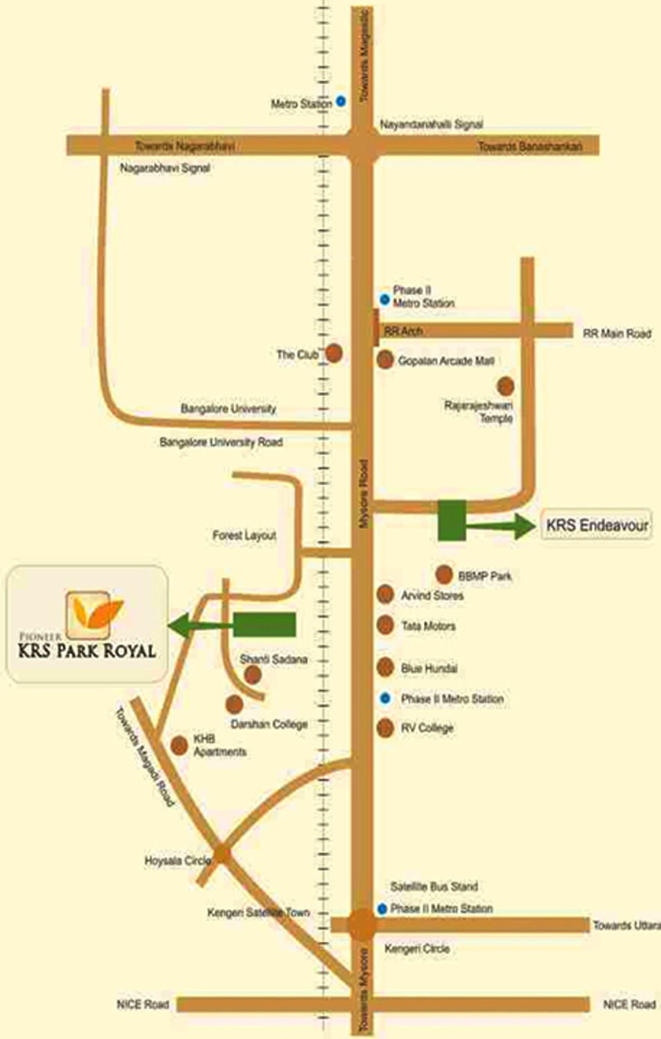 Pioneer krs park royal in kengeri bangalore price location map more photos ccuart