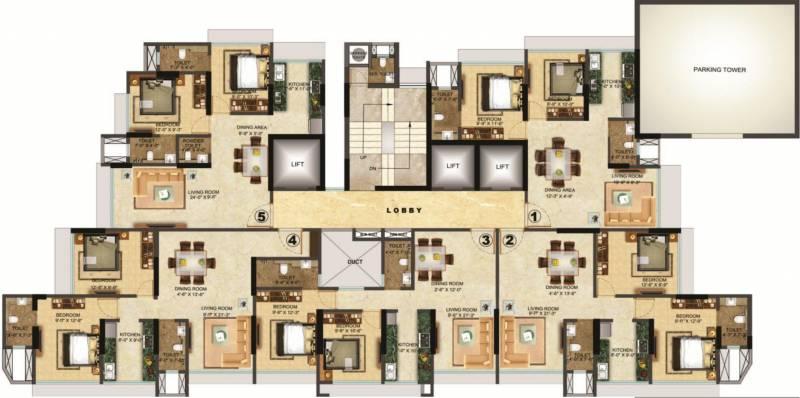 Images for Cluster Plan of Sethia Grandeur