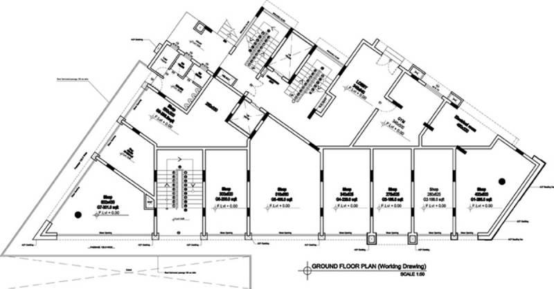 rhazes Rhazes Cluster Plan for ground Floor