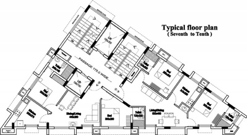 rhazes Rhazes Cluster Plan from 7th to 10th Floor