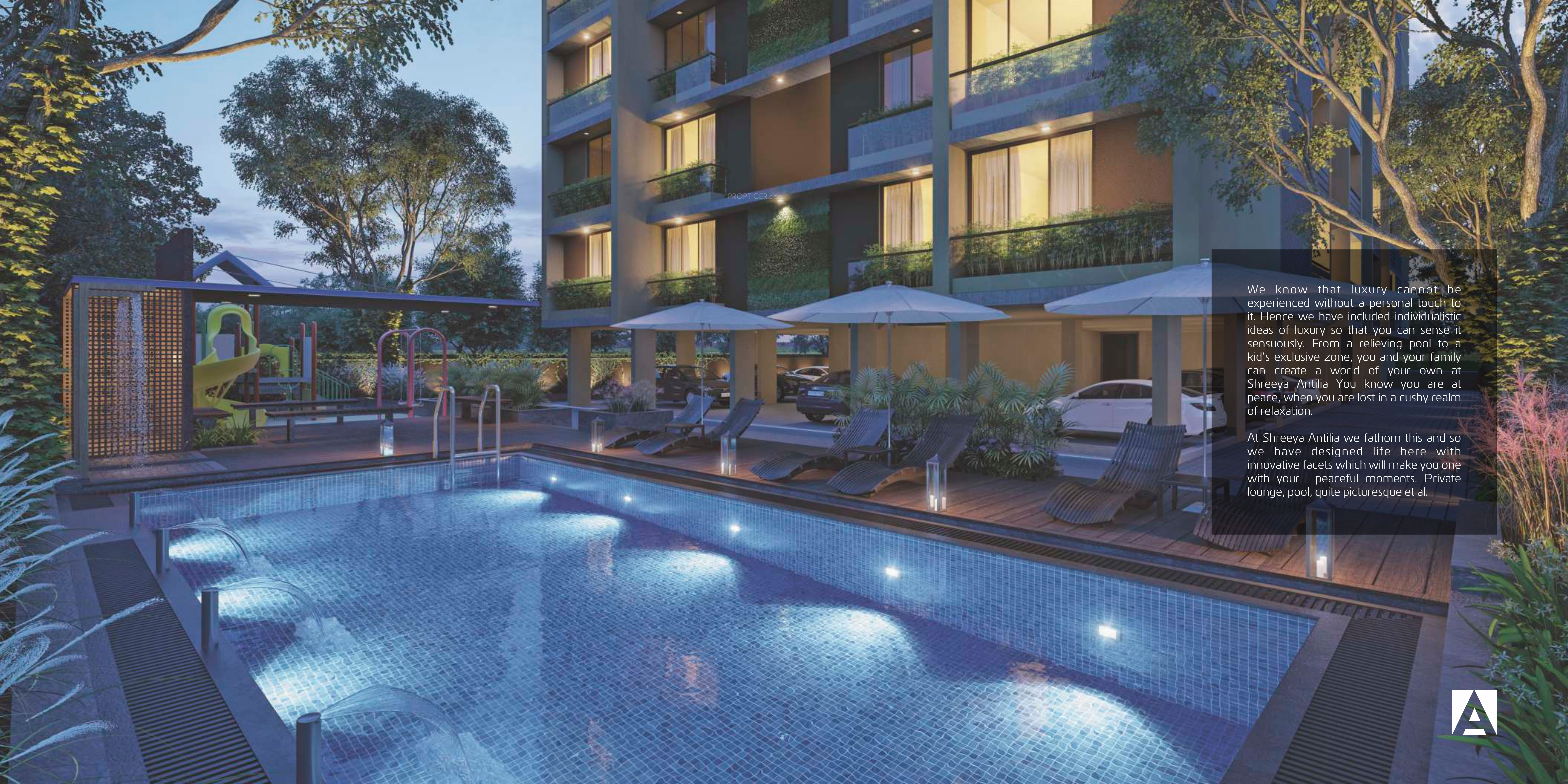 Shreeya antilia in thaltej ahmedabad price location - Cost of building a swimming pool in india ...