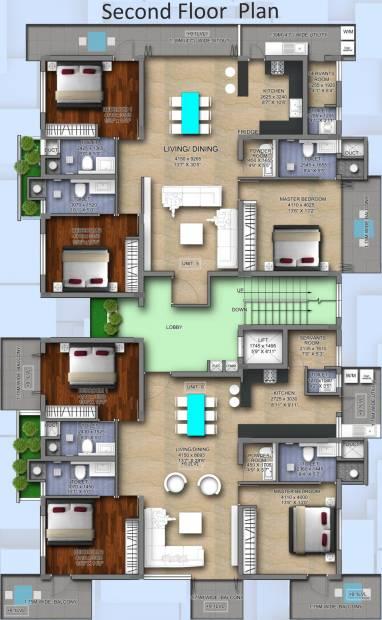 Images for Cluster Plan of Vaishnavi Blue Square