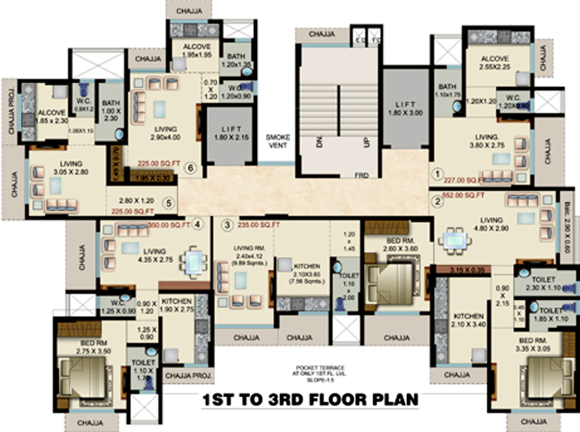 227 Sq Ft 1 BHK 1T Apartment For Sale In Shraddha Landmark