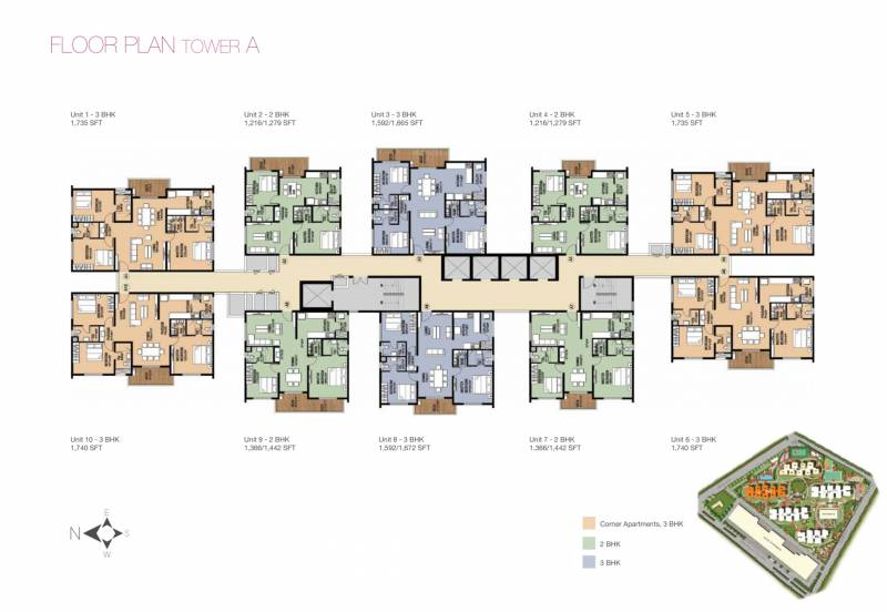2 3 Bhk Cluster Plan Image Incor Infrastructure One