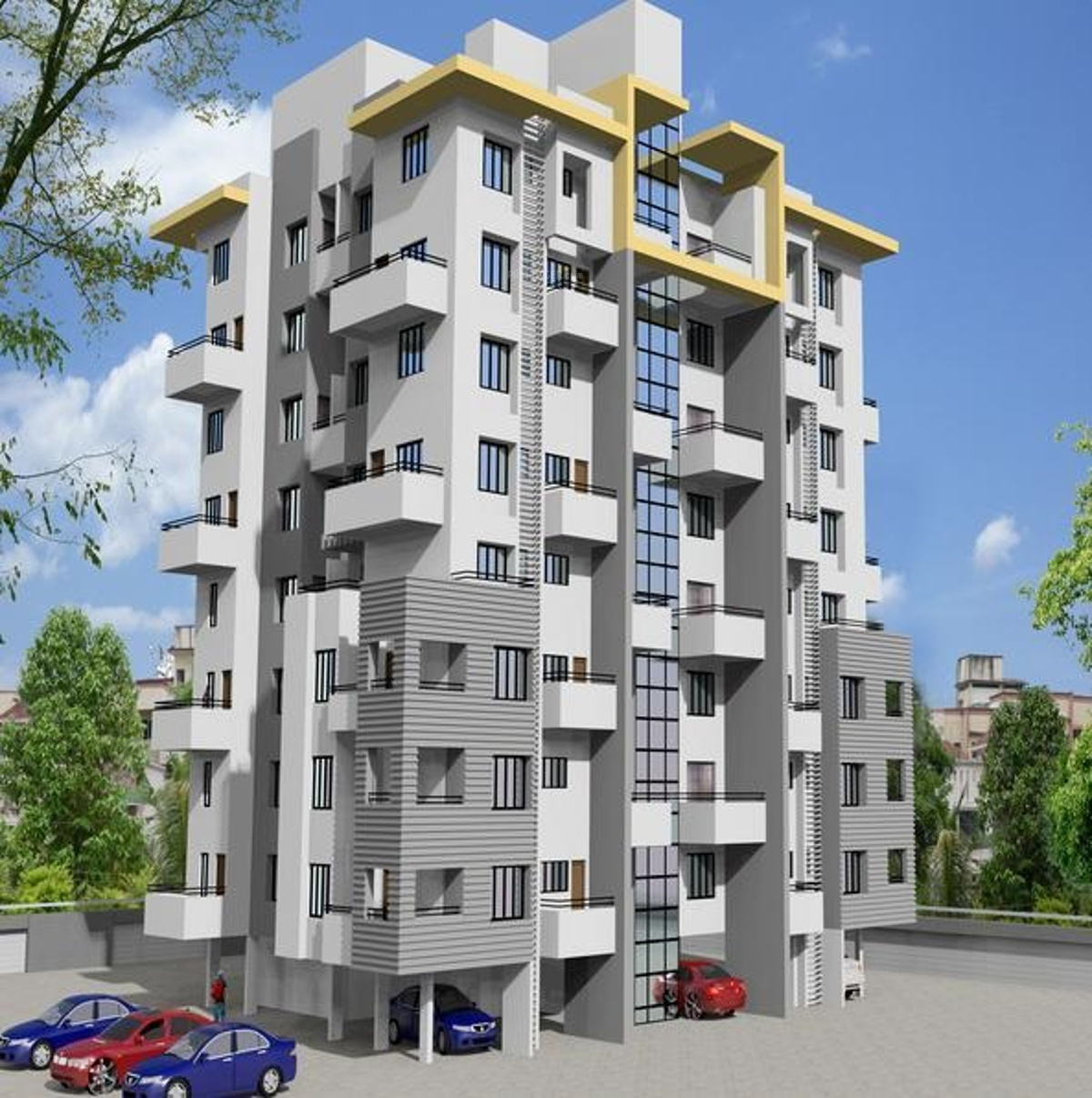 Aluminium Modular Kitchen At Rs 1100 Square Feet: 1100 Sq Ft 2 BHK 2T Apartment For Sale In DS Group Pune