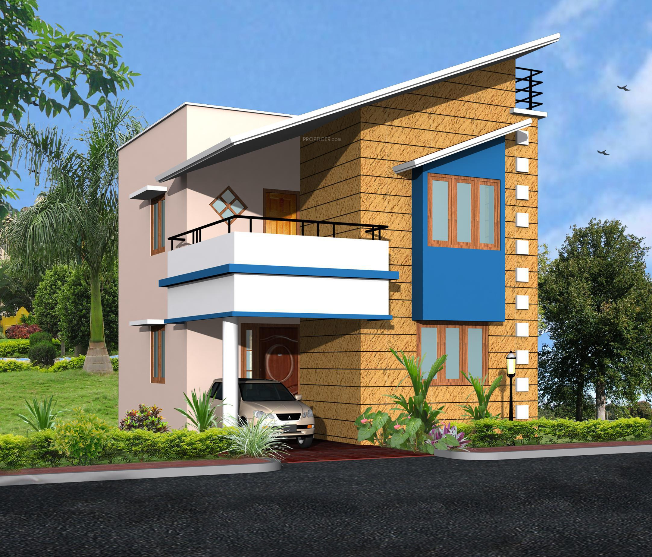 Front Elevation Of Houses In Usa : Sq ft bhk t villa for sale in kiran and kashi