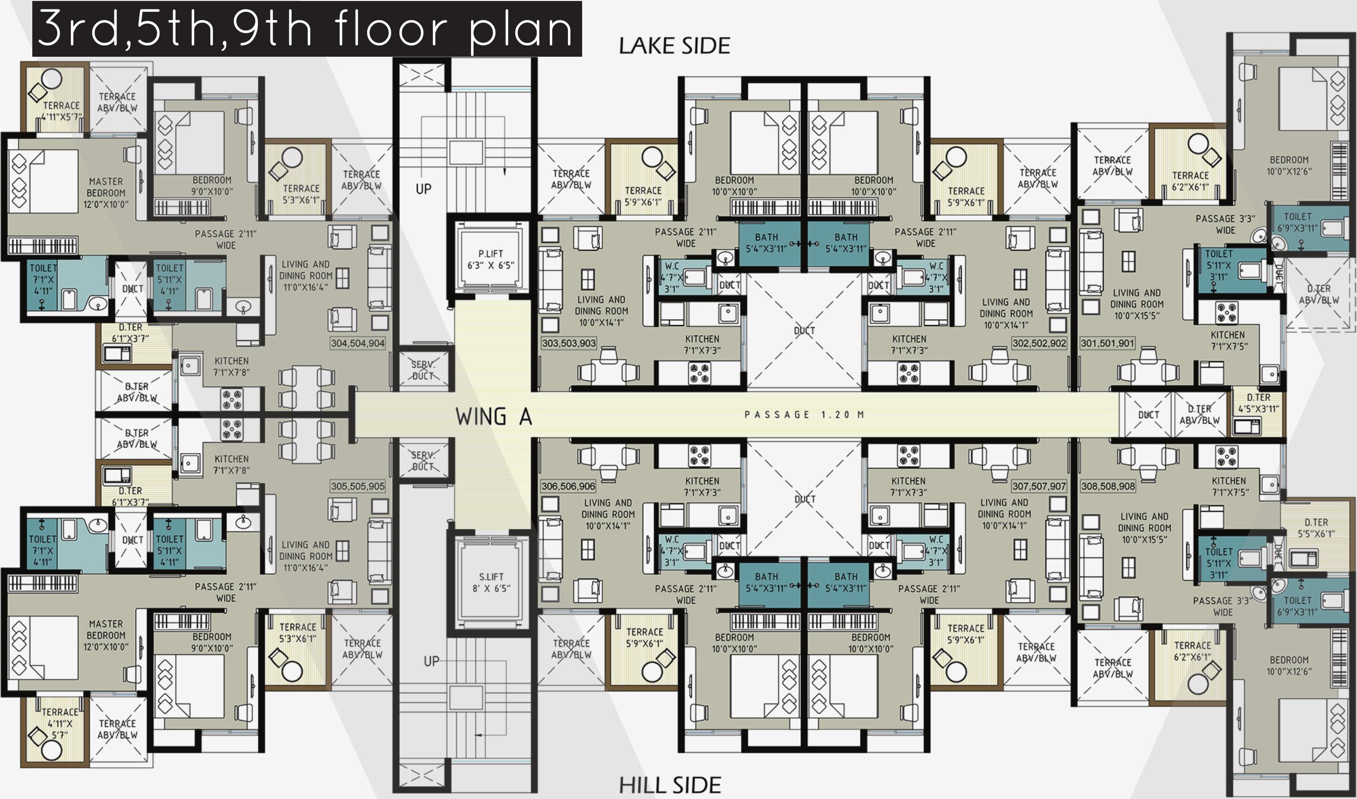 We lakeside in katraj pune price location map floor for Lakeside floor plan