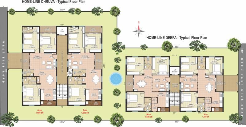 Images for Master Plan of Modi Deepa Dhruva Heights
