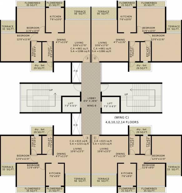 Images for Cluster Plan of Vansh Delta Tower 2