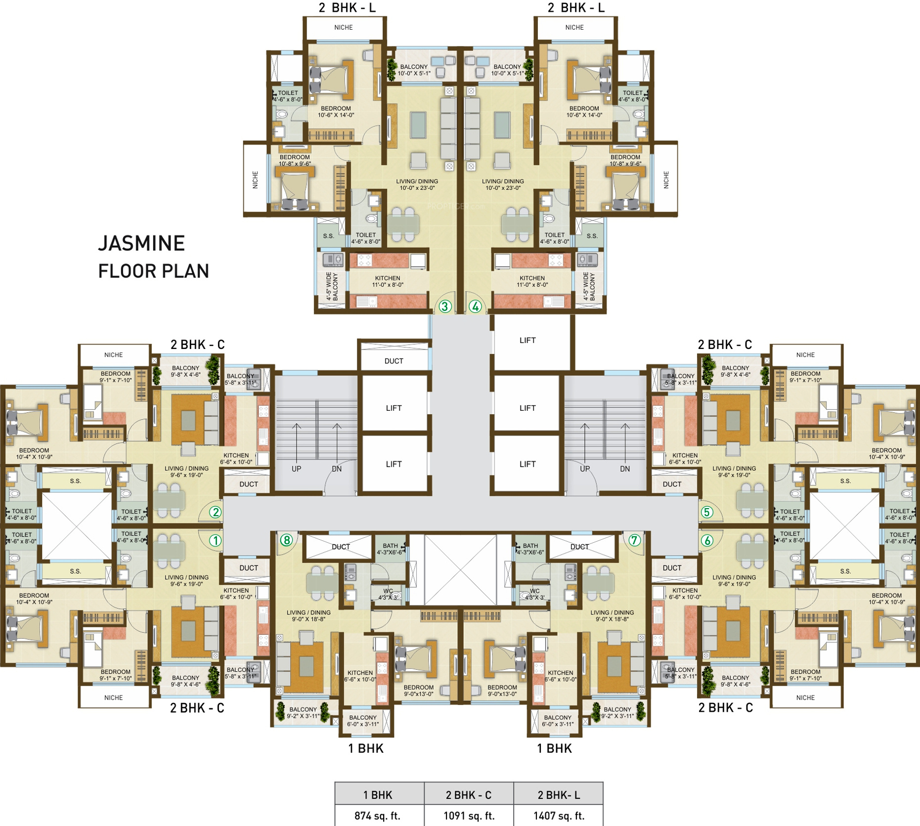 2827 sq ft 4 bhk 4t apartment for sale in indiabulls for Apartment cluster plans