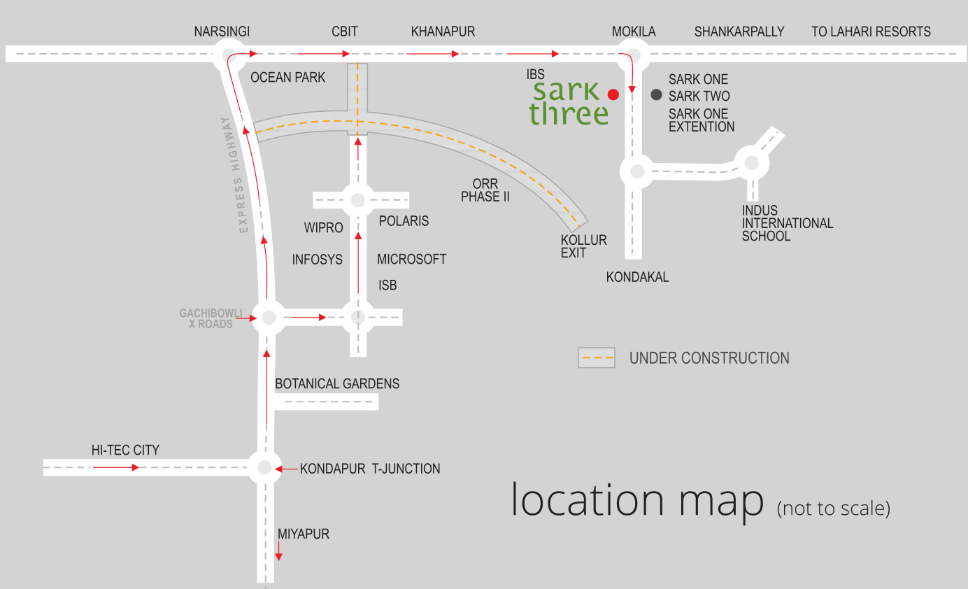 Sark Three In Mokila Hyderabad Price Location Map