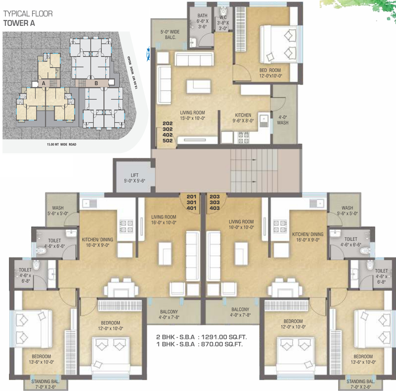 1230 sq ft 2 bhk 2t apartment for sale in vedant pearl for Backyard apartment floor plans