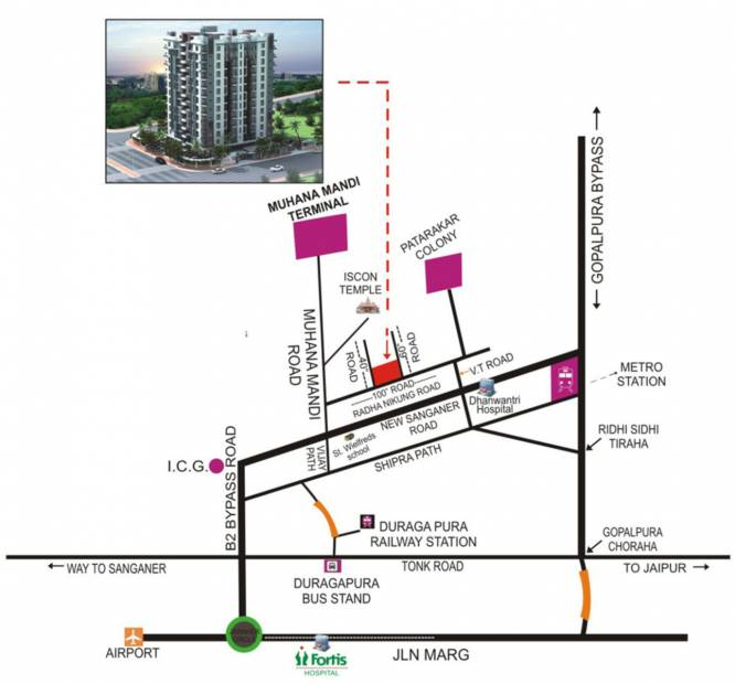 Images for Location Plan of Pinkcity Orient Residency