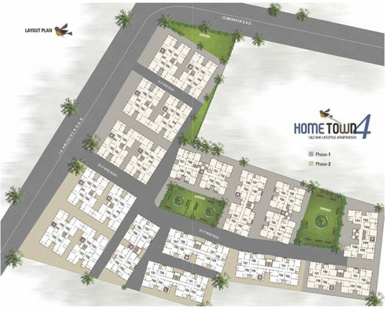 home-town-4 Images for Layout Plan of Prasthan Hometown 4