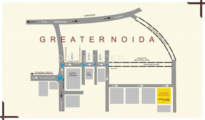 Nitishree The Alstonia Apartments Location Plan