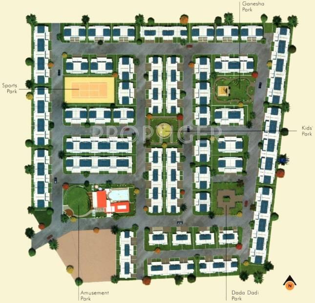 Purple Properties Five gardens Layout Plan