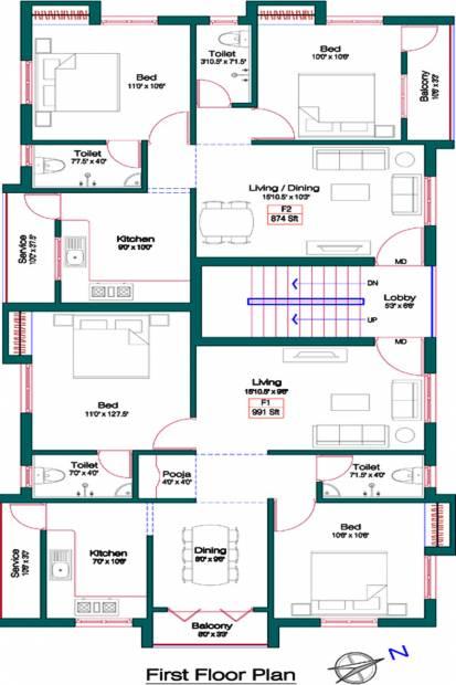 Images for Cluster Plan of Alankar Sree Krishna Garden