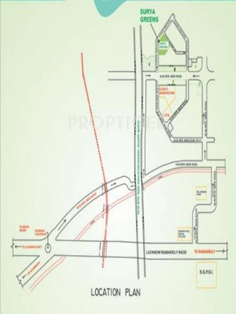 Images for Location Plan of Raj Surya Greens Appartment