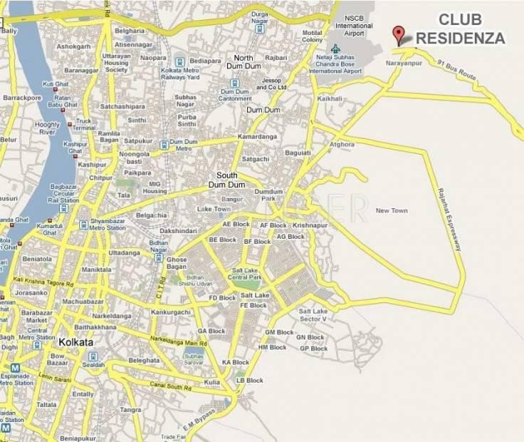 club-residenza Location Plan