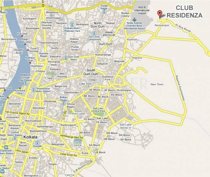 JPK Enclave Pvt Ltd Club Residenza Location Plan